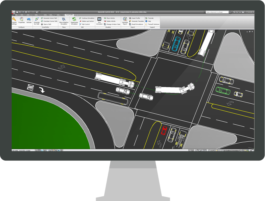 Autoturn Swept Path Analysis Software For Vehicle Turn