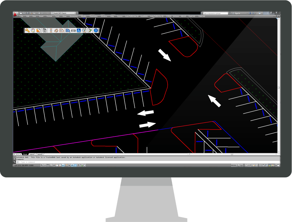 Parkcad logiciel de conception de parkings transoft for Logiciel de conception