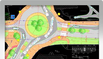 Innovative SmartPath tools allow the generation of continuous vehicle paths with four interactive drive modes (Arc Path, Corner Path, Oversteer Corner, Steer A Path) that incorporate speed, superelevation, lateral friction, and turn radius algorithms for realistic results.
