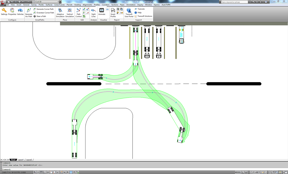 Autoturn swept path analysis software for vehicle turn maneuvers autoturn swept path analysis software for vehicle turn maneuvers transoft solutions pronofoot35fo Gallery
