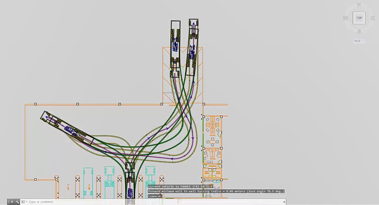 Autoturn Main Functionality Transoft Solutions Software Is Very Useful When Simulating This Type Of Circuit Diagram A Closer Look At The Vehicle Swept Path Analysis And Turning Simulation For Autocad Civil3d Microstation