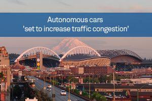 Autonomous cars 'set to increase traffic congestion'