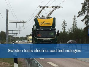 Sweden tests electric road technologies