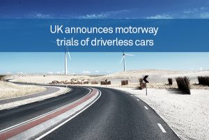 UK announces motorway trials of driverless cars