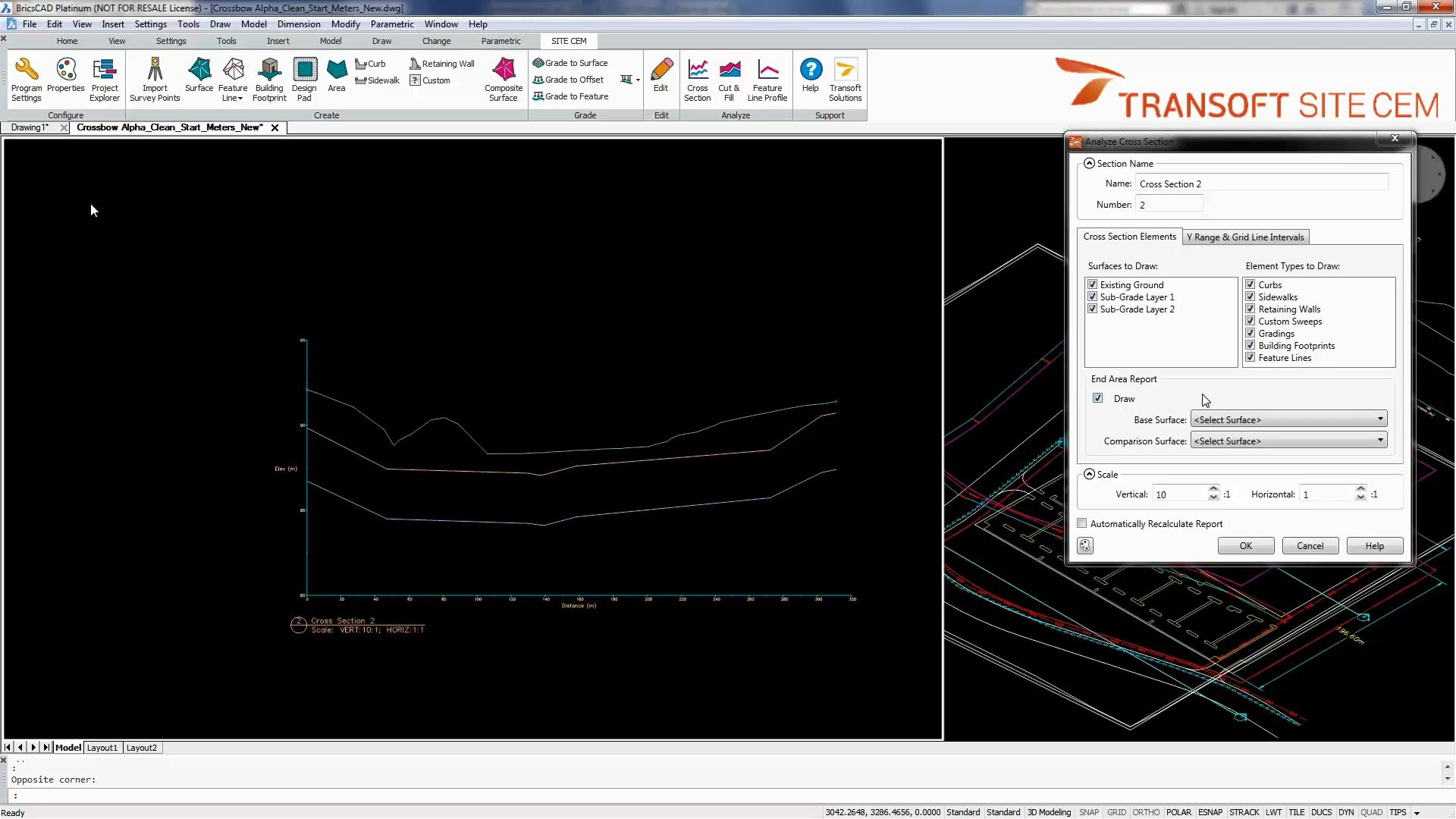 calculate cut and fill volumes for earthworks transoft solutions