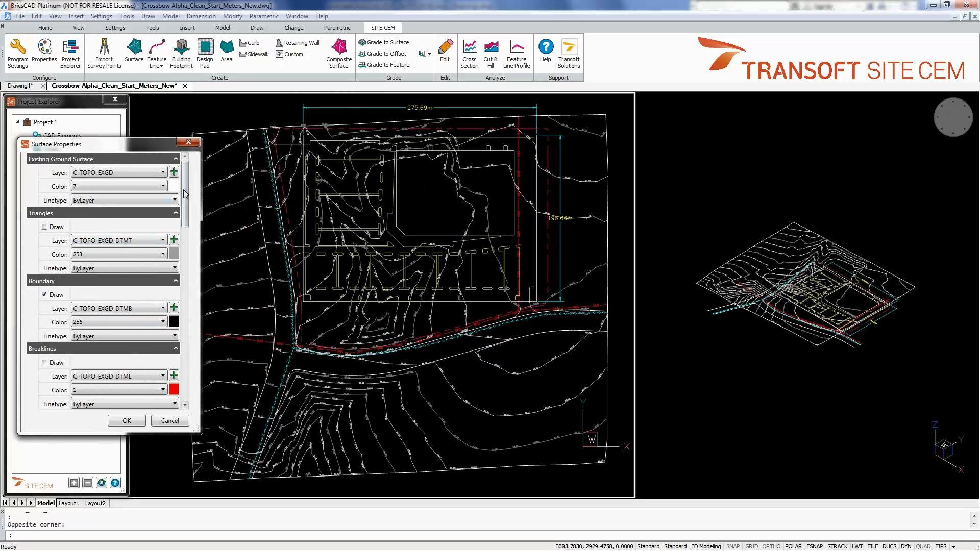 advanced terrain modelling on autocad civil 3d and bricscad transoft solutions. Black Bedroom Furniture Sets. Home Design Ideas