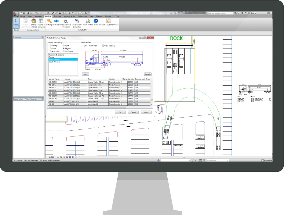 AutoTURN for Revit PSS Confirmation | Transoft Solutions