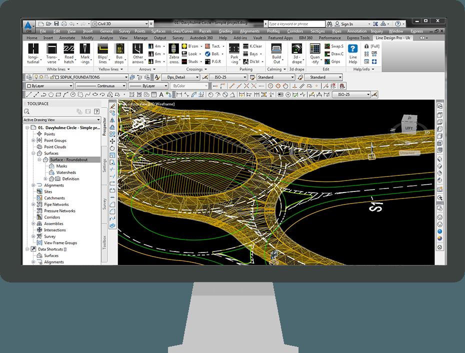Line Design Pro UK | Road Marking Software | Transoft Solutions