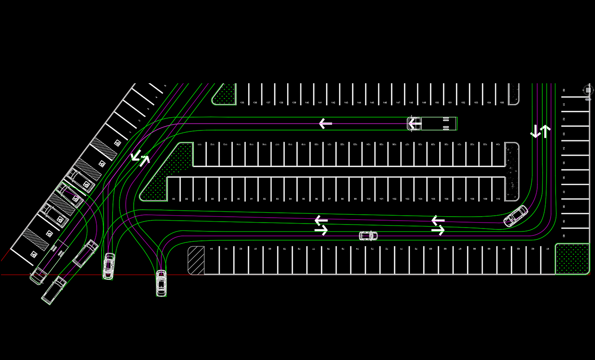 Parkcad Parking Lot Design And Layout Software Facility Free 2d Cad Drafting Program Just Like Autocad Lt Transoft Solutions