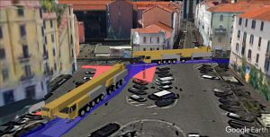 Published 3D vehicle swept path simulation in Google Earth