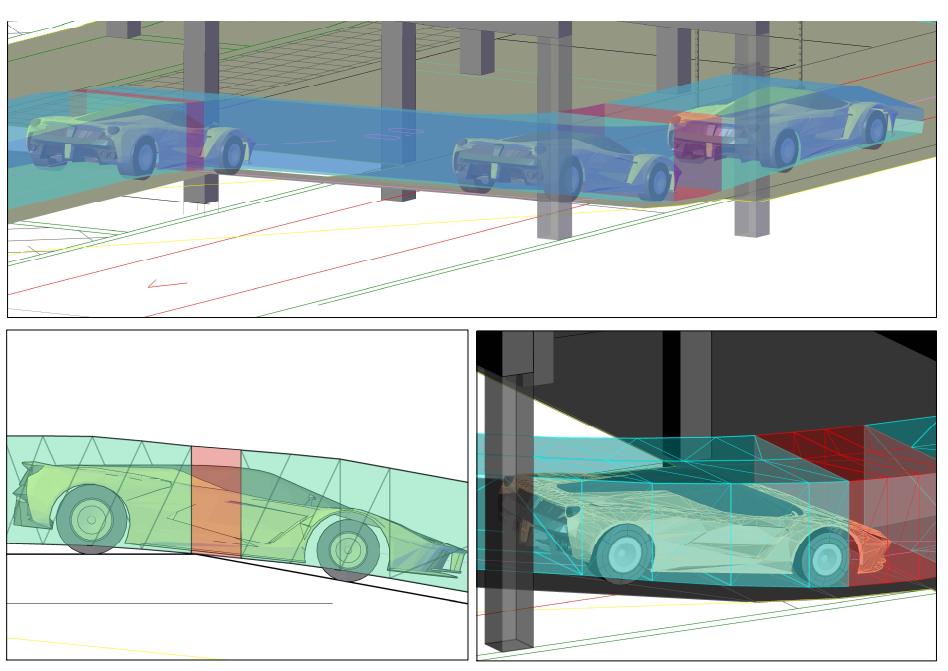 Beispiel eines herstellerspezifischen Fahrzeugs in AutoTURN Pro: Ferrari Spider-Nachweis eines Bodenkonflikts