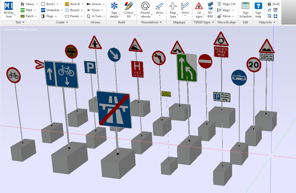 Transoft solutions uk has released a set of 20 3d signs created with sign design pro uk version 9 for free the sign faces are dwg format therefore