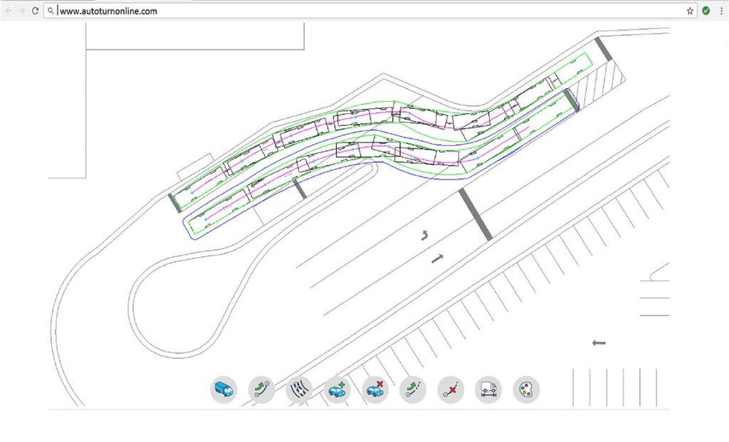 simulazione delle traiettorie di marcia dei veicoli