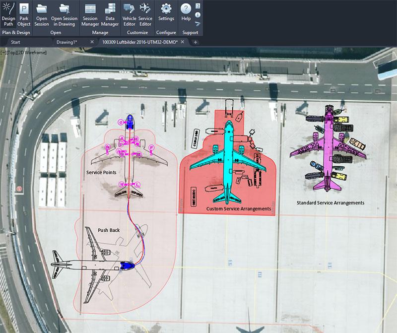 Aircraft Service Arrangements and Push Back