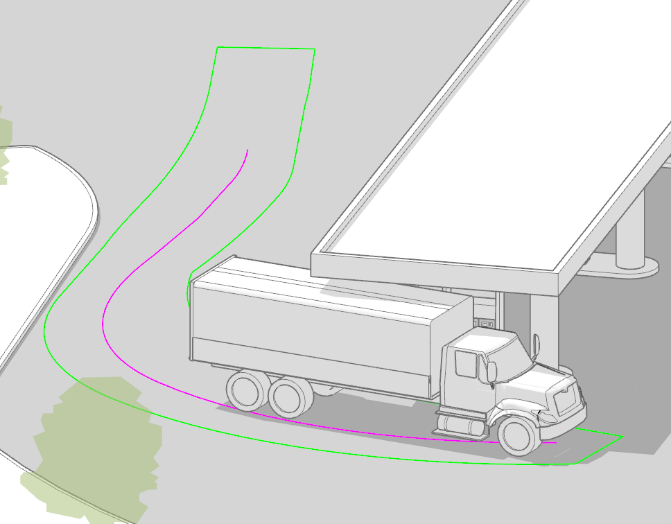 sketchup vehicle maneuver