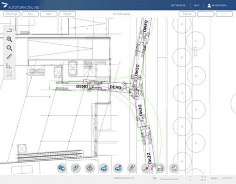 AutoTURN Online løsning for sporingsanalyse